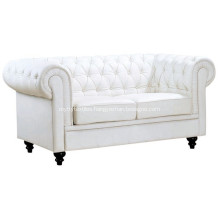 Living Room Chesterfield Two Seater Leather Sofa