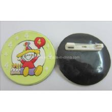 Soft PVC Pins 3D Logo com pinos de segurança