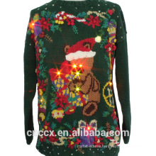 14STC8060 2016 hot lighted christmas sweater with LED lights
