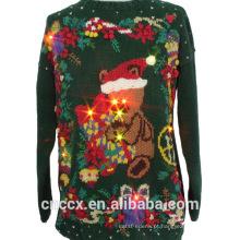 14STC8060 2016 camisola de Natal quente com luzes LED