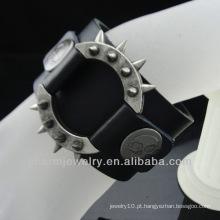 Braceletes de couro dos homens personalizados Feito na China Alibaba BGL-006