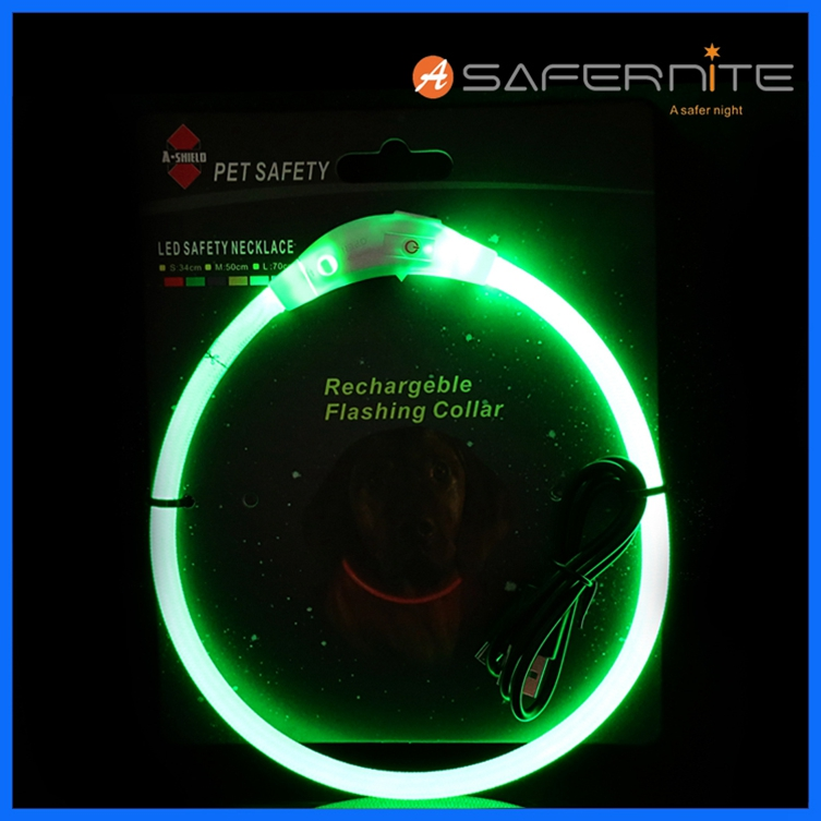 Usb Rechargeable Glow Pets Dog Collar With Led Lights