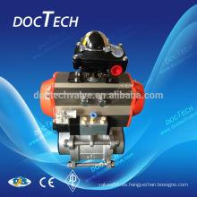 Válvula de bola de acero inoxidable con ISO5211 cojín