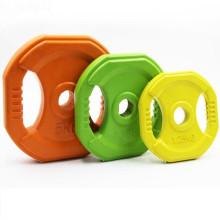 Crossfit резиновый покрынный литой квадратный вес пластины (1,25 кг, 2,5 кг, 5 кг)