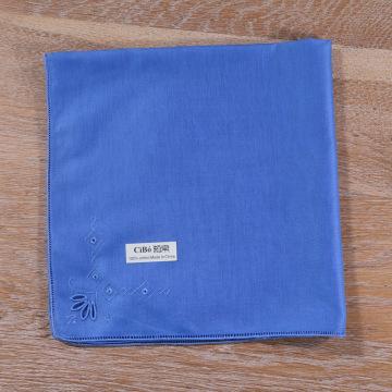 Padrões de bordado de lenço de algodão azul Trabalho desenhado