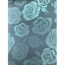 Green Big Flower Jacquard Lining