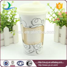 Hot sale wholesale double wall ceramic mug