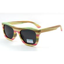 Bunte Holz-Sonnenbrille (JN0010)