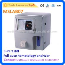 Machine de compte de sang complet de l'hôpital MSLAB07i, analyseur de hématologie de différenciation automatique à 3 pièces automatique