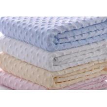 DOT Mink Fleece Double Layer Colorful Blanket