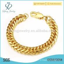 Platinum chunky mulheres pulseira de ouro, braceletes de pulseira de ouro das mulheres