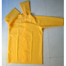Yj-6029 Children′s Yellow Toddlers Raincoat with Hood