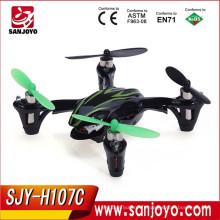 Hubsan X4 H107C 2.4G 4CH RC hélicoptère Quadcopter avec caméra RTF + émetteur + batterie Mini Drones télécommande jouets SJY-H107C