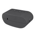 Heißer verkauf abs digitale tischuhr schwarz kleine led digitaluhr bluetooth lautsprecher mit uhr und radio