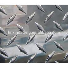 Ромбовидного узора алюминиевая пластина 1060 3003 5052 5005
