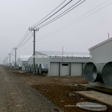 Stahlkonstruktion Hühnerfarm Bau mit Produktionsanlagen