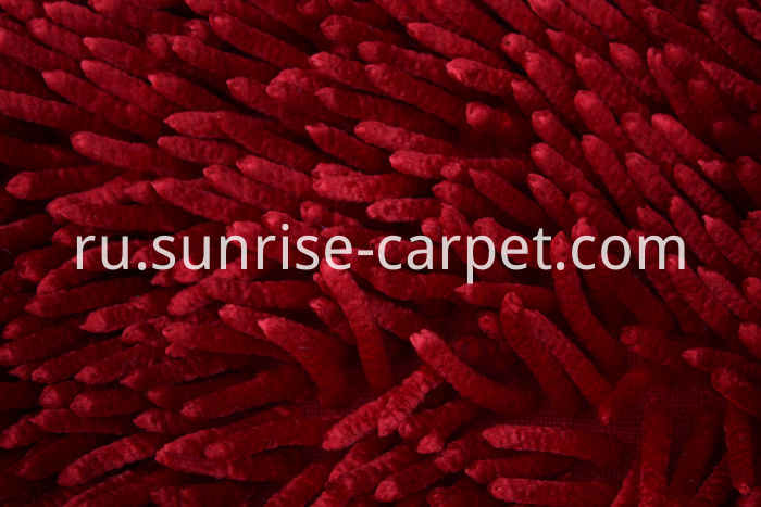 Shinning Polyester Chenille Rugs red