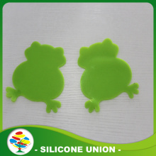 Grenouille verte promotionnel forme Silicone Coaster