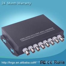 Made in China 8-Kanal-Video-Audio-Konverter / Video-Transceiver Reichweite von 20-100 km