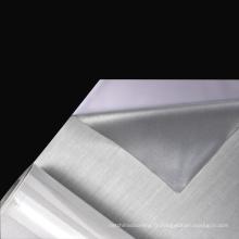Gros EN471 haute visibilité standard polyester enduit argent tissu réfléchissant