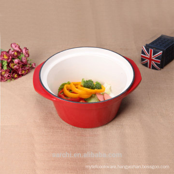 enamel cast iron kitchen utensils deep stew pot