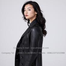 Sheepskin Leather Lady Jacket In Winter