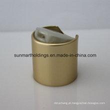 24/410 tampas de disco de parafuso com nervuras douradas de alumínio