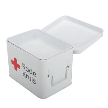 Caja de primeros auxilios estándar de metal para el hogar