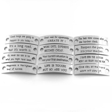 Zinc Alloy Cruved Plats with Leather Strap Jewelry Bracelet