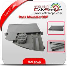 Caixa de distribuição de montagem de rack de cabo de fibra óptica de alta qualidade ODF-4 / ODF