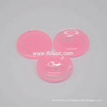 Botón del poliester con el color de caramelo para la camisa de Lady′s
