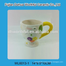 Ceramic milk cup for Easter holiday
