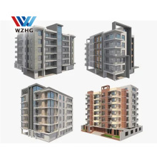 High Rise Steel Structure Prefabricated Apartment Building With 2 3  4 5 6 7 8 9 10 Floor