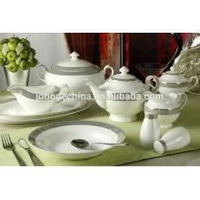 Decoración completa nuevamente diseñado hueso china porcelana cerámica vajilla melamina
