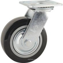 H2 Tipo de serviço pesado Rolamento de esferas duplo PU Swivel Type Wheel Castor