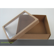 Custom-Made Kraft Packaging Box with PVC Window