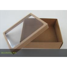 Caixa de embalagem Kraft customizada com janela de PVC