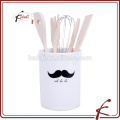 Titular de utensílios de cerâmica de design de bigode