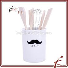 Titular de utensilio de cerámica de diseño de bigote