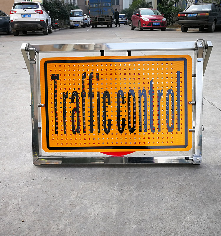 traffic control warning sign
