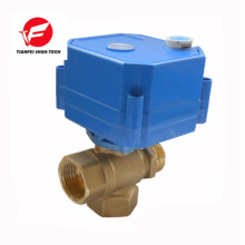 CWX -25S 3 way motorized ball valve stainless steel manual control vavle