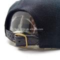 Impresso brim couro emblema snapback tampa com pulseira de couro
