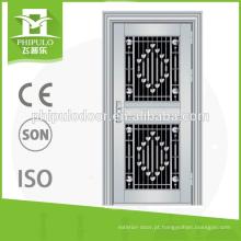 portas dobro inoxidáveis da segurança de aço comercial usadas para residencial exterior