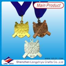 Australia Custom Medal Hanger Gold Silver Bronze Award Sports Medal Kids Skipping Medals Shield Badge (LZY000057)