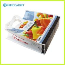 Allover que imprime la bolsa no tejida laminada promocional RGB-019 de los PP del ultramarinos
