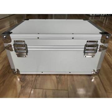 Maleta de transporte de alumínio para instrumentos com padrão de espuma