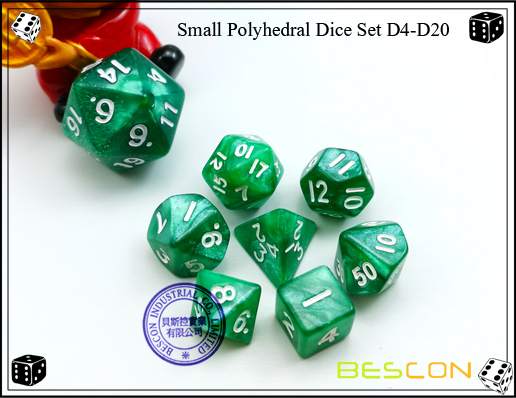 Small Polyhedral Dice Set D4-D20