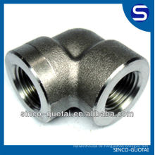 ASME B16.11 Edelstahl-Sockel-Schweißfitting / Geschmiedete Armaturen / Hochdruckarmaturen / 90-Grad-Winkelstück