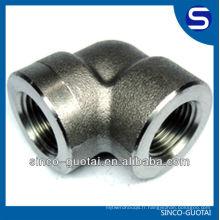 Raccord à souder en acier inoxydable ASME B16.11 / Raccords forgés / Raccords haute pression / Coude à 90 degrés