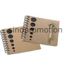 Stationery Mini Promotion Gift Recycled Notebook with Ball Pen